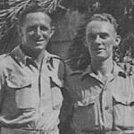 Frank ? & Unknown from No.2 Cdo. at Alameda Gardens, Gibraltar 1943