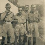 2 unknown and then TSM George Hutton DCM, L/Sgt Ray Buckby