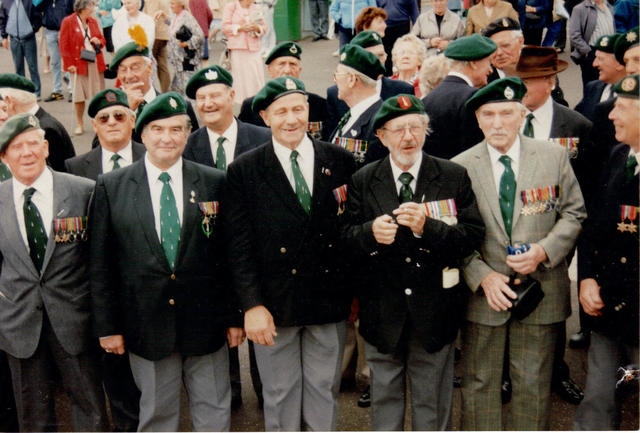 Group of Veterans several from No 5 Cdo