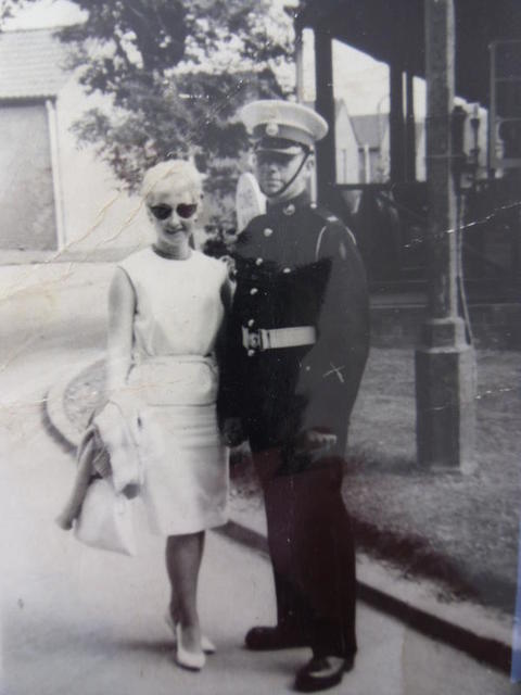 Alex with his wife whilst in Kings Squad ITCRM Apr 1961