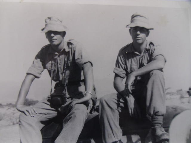 Alex McFarlane and 'Jerry' Lewis, 45 Cdo. convoy to Dhala Aden 1962