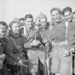 Roy Halfpenny, Harry Pitman, and No.1 Cdo. comrades