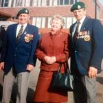 Robinson Collins 43RM Cdo.on the right with his wife and a fellow Commando
