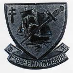Die struck Bronze Badge worn by French Marine volunteers with No4 Commando