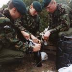 Members of 131 Indep Cdo Sqn RE during the Swiss Raid Commando1992