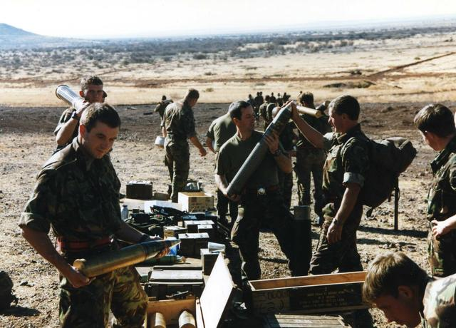 Members of 131 Indep Cdo Sqn RE, Exercise Ocean Wave, South Africa, 1997