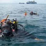 131 Commando Squadron's Dive Team working in the Straits of Gibraltar, June 2011