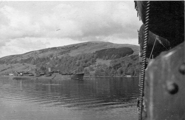 HMS Scotsman off Inveraray.