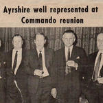 Newspaper clipping Hugh Hunter, J. Colvin, Pat Porteous VC, Bill Boucher-Myers DSO, Jim Bishop.