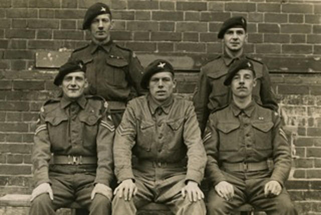 Edward Arnold Tucker (rear left) and others