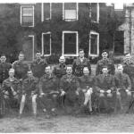 Lt. Col. Howard, Instructors, and staff 1942 at STC Lochailort