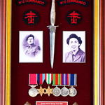 Frame of items in memory of L/Cpl Cant BEM No 2 Cdo.