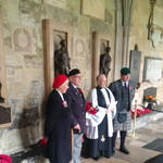 Remembrance service by the memorial in the cloisters at Westminster Abbey (3)