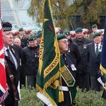 Fred Davies, CVA National Standard Bearer, at Attention at Fort William