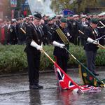 The Colour Party carry out The Dip as an Act of Homage.