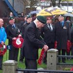 Ernie Mason, No.3 Commando lays the Wreath at Fort William