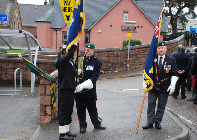 Drill before start of Parade Fort William 8th Nov 2015