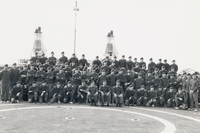 HQ 3 Cdo Bde & Sig Sqn at sea 1970s