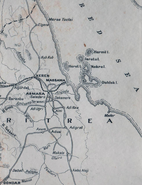Map of Keren and Amba Alaji