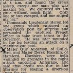Newspaper clipping 1942