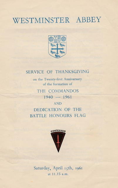 21st anniversary of the formation of the Commandos Service