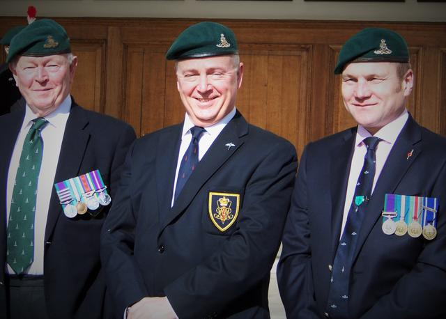 Paddy Barrett, Ernie Brown and another 289 Commando RA Veteran.