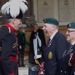 Lt Col Andy Hinkling, MBE, shares a joke with Keith 'Pony' Moore and John Harding.