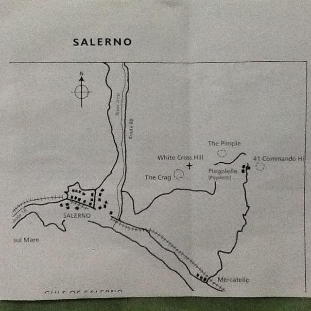 Salerno outline sketch of area.