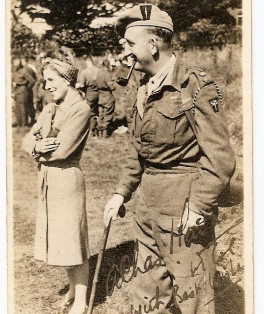 Lt.Col. Charles Newman  VC with his wife