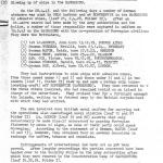 Translated extract from a German document on their capture