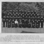 "Squad 880, ""A"" Company at the passing out parade on 3rd November 1955 (all names included)"
