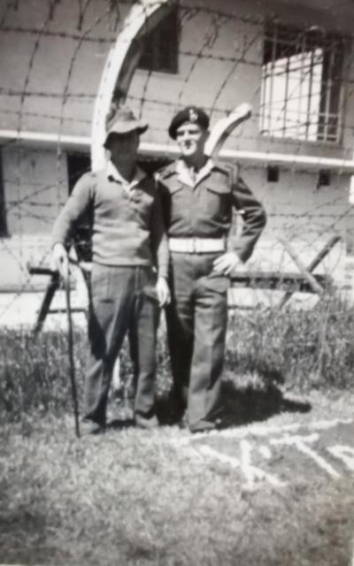 Mne Booth and Lt Manning - Fanling, Hong Kong 42 Cdo., 'X' Tp. 1946