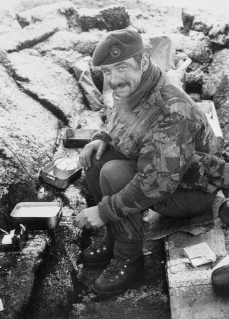 Sgt 'Sharkey' Ward,  40 Cdo RM, San Carlos, Falklands