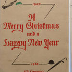 1945/6 No 4 Cdo Xmas & New Year Card
