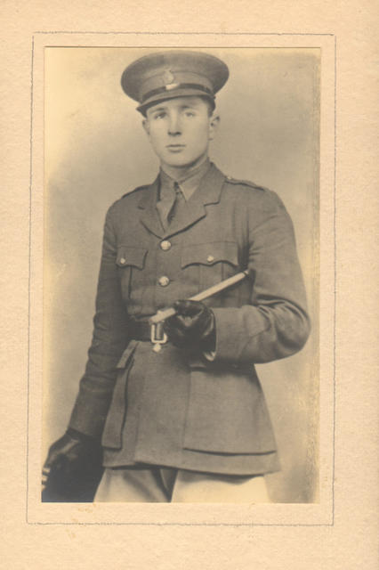 Captain Nicholls as a cadet at Woolwich in 1935