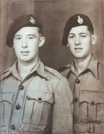 Mnes. Norman Fincham and Edward Adams (left)  44RM Cdo