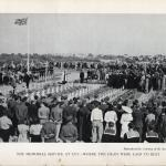 The first memorial service at the cemetery at Cuy, 2nd August 1947.