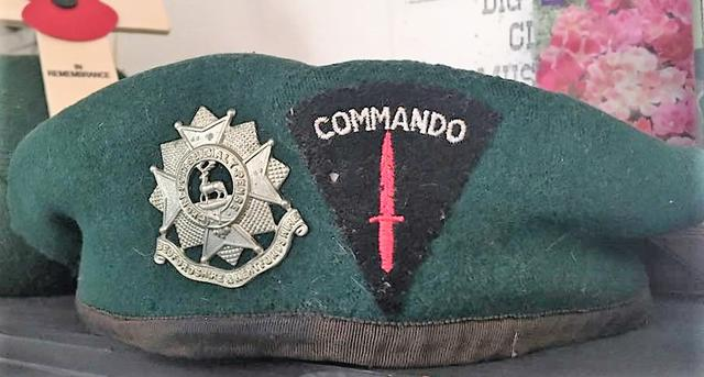 The Green Beret of Des Crowden, No.5 Commando