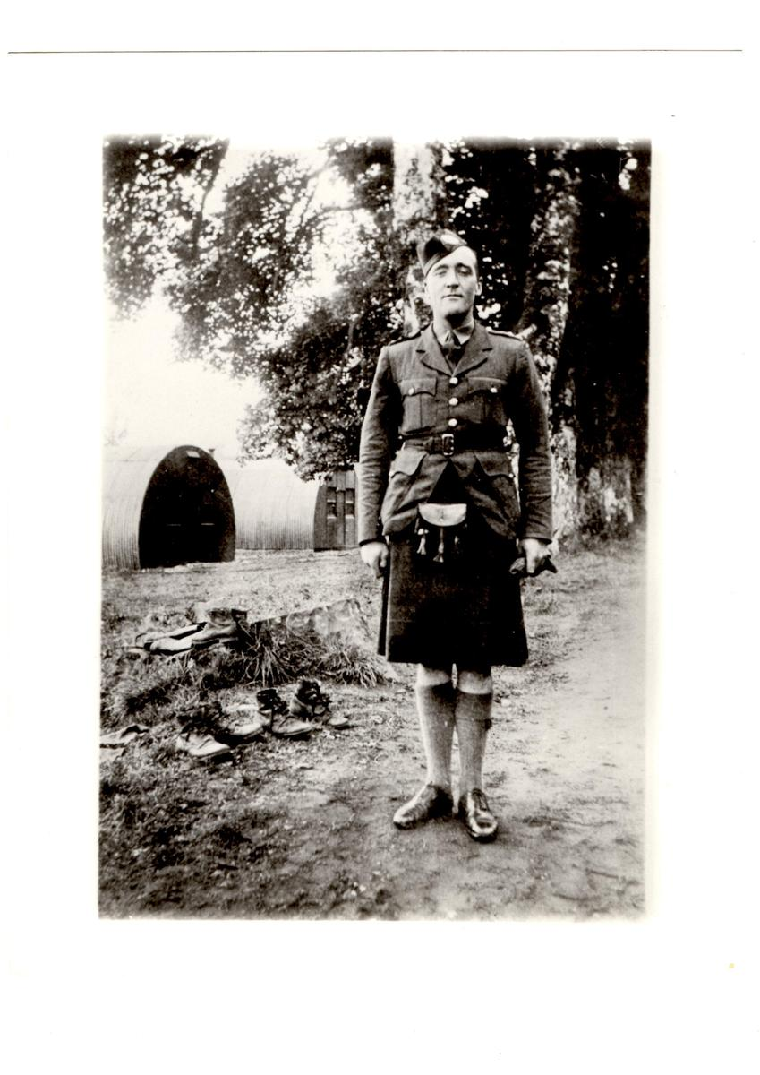 Lieutenant Alick Cowieson at Achnacarry.