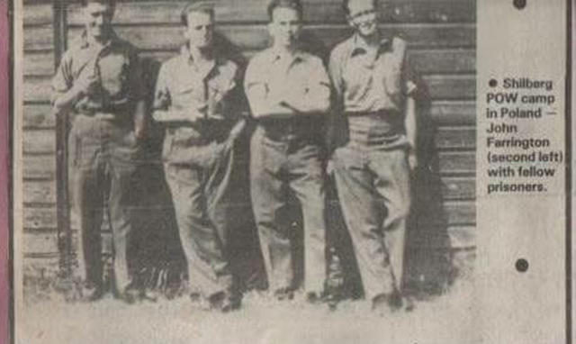 John Farrington, 2nd left, and others in captivity