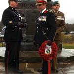 Royal Marines before the Parade