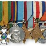 Medals belonging to E W Dudley Coventry