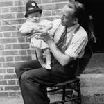 Frank and son, Richard Allum, Aug 1949