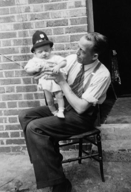 Frank and son, Richard Allum, Aug 1949