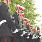40 Commando RM during the Drumhead Service at their homecoming parade