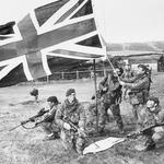 40 Commando RM raise the British Flag on West Falkland