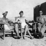 Sgt. Ernie Milner (on the right) and unknown