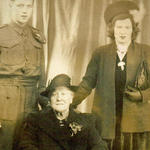Cpl Begbie with his Mother and Grandmother