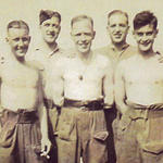 Ron Griffiths, Harry Hewitt, Cpl. Skeath and Jimmie Whitaker 46RM Cdo