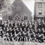 No 4 Commando 'D' troop o/s Lake Road Chapel, Keswick c.1942